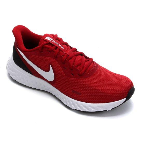 Tênis Nike Revolution 5 Masculino - Vermelho+Branco