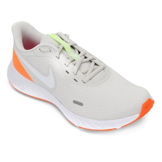 Tênis Nike Revolution 5 Masculino - Laranja+Cinza