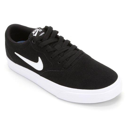 Tênis Nike SB Charge Suede - Preto+Branco