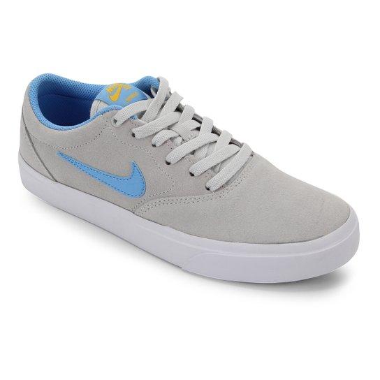 Tênis Nike SB Charge Suede - Cinza+Azul