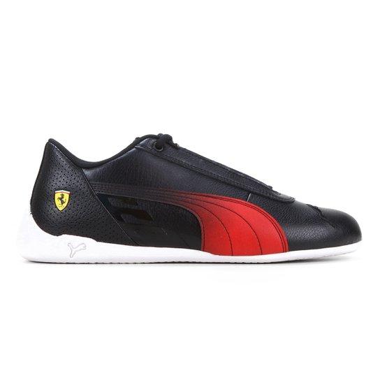 Tênis Puma Ferrari R-Cat Masculino - Preto+Vermelho