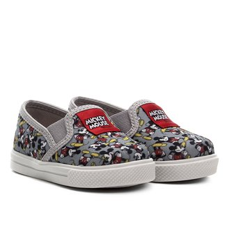 Tênis Slip On Infantil Disney Mickey Mouse Masculino