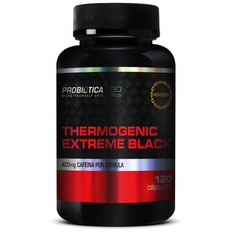 Thermogenic Extreme Black 120 Cáps - Probiótica