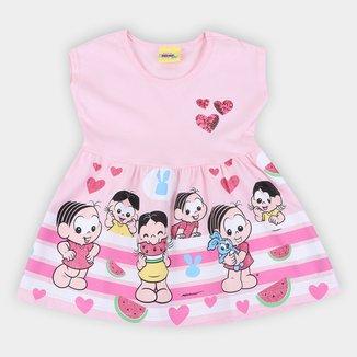 Vestido Bebê Brandili Turma da Mônica