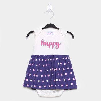Vestido Bebê Candy Kids Happy c/ Body