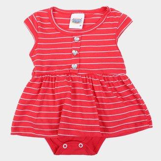 Vestido Bebê Duzizo Listrado Com Body Embutido Feminino