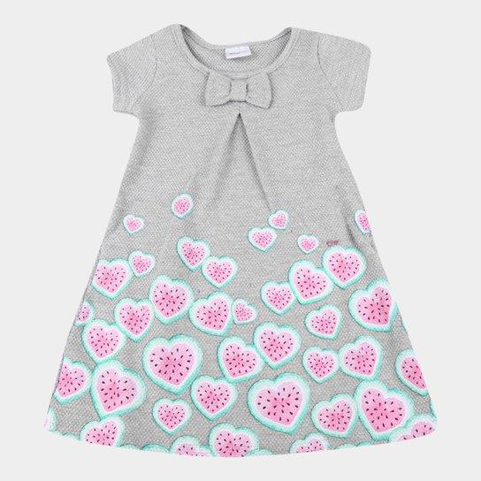 Vestido Bebê Elian Buboow Com Laço E Strass - Mescla