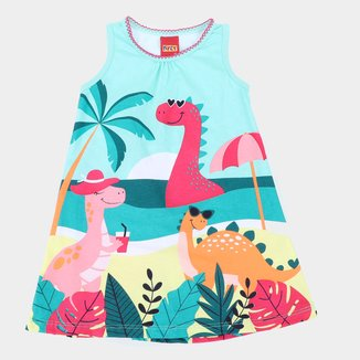 Vestido Bebê Kyly Dino Feminino