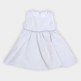 Vestido Bebê Malwee Festa Bengaline c/ Lurex Feminino
