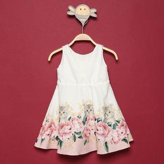 Vestido Bebê Milon Alfaiataria Floral
