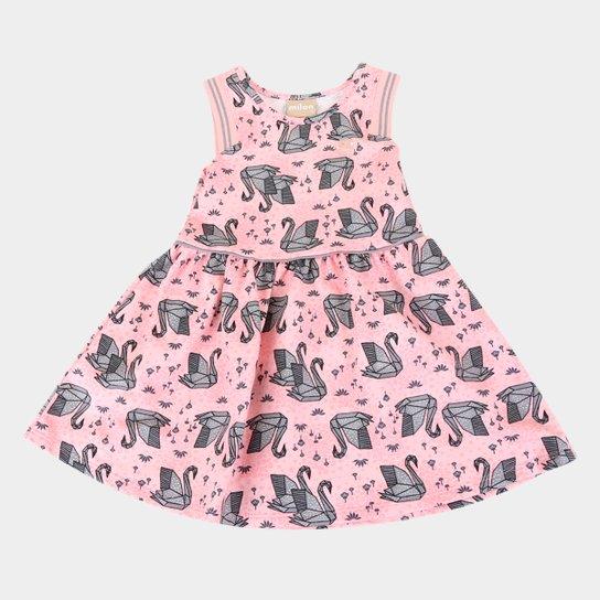 Vestido Bebê Milon Moletinho Leve Origami - Rosa