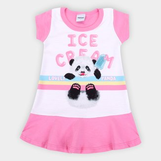 Vestido Bebê Moletinho Rovitex Fluffy