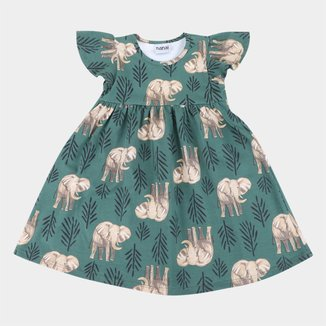 Vestido Bebê Nanai Elefantes