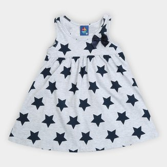 Vestido Bebê Pipa Curto Star