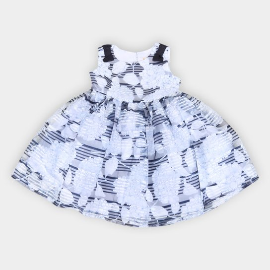 Vestido Bebê Trick Nick Festa Cambridge Valencia - Marinho