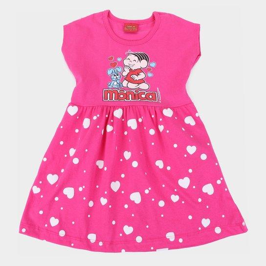 Vestido Infantil Brandili Turma da Mônica - Pink