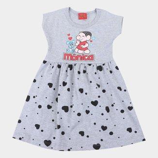 Vestido Infantil Brandili Turma da Mônica