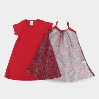 Vestido Infantil Costão 2 em 1 Feminino
