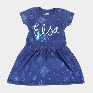 Vestido Infantil Disney Elsa Snow Frozen