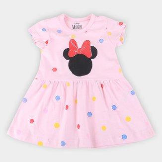 Vestido Infantil Disney Minnie Aquarelado