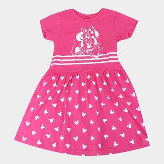 Vestido Infantil Disney Minnie Striped Feminino