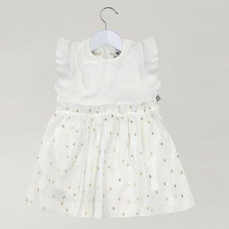 Vestido Infantil Hering Tule Babado Menina