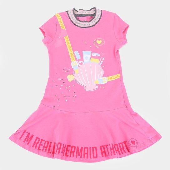 Vestido Infantil Kamylus I'am Real - Pink
