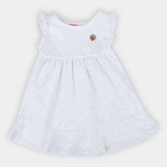 Vestido Infantil Kamylus Laise Festa Feminino - Off White