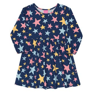 Vestido Infantil Kamylus Star Manga Longa
