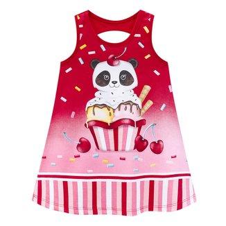 Vestido Infantil Kyly Candy Pandinha