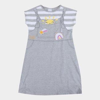 Vestido Infantil Malwee Estampado Feminino