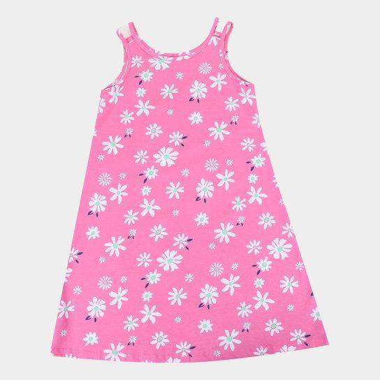 Vestido Infantil  Malwee Estampado - Rosa