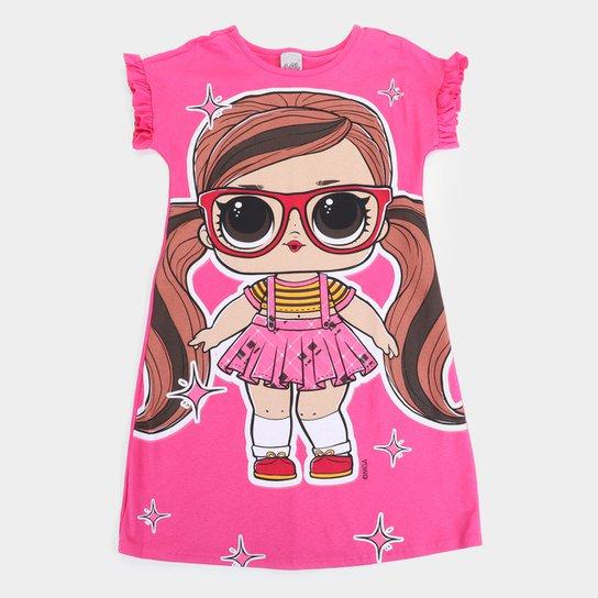 Vestido Infantil Malwee Lol - Pink