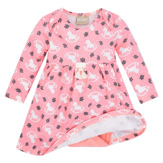 Vestido Infantil Milon Estampado C/ Body