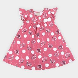 Vestido Infantil Milon Flamingos Lacinho