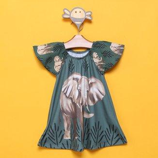 Vestido Infantil Nanai Elefantes