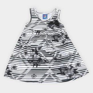 Vestido Infantil Pipa Estampado Laço Feminino
