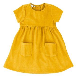 Vestido Infantil PUC Liso C/ Bolso