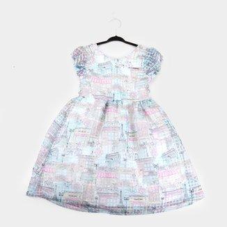 Vestido Infantil Quimby Maquinetado Sublimado