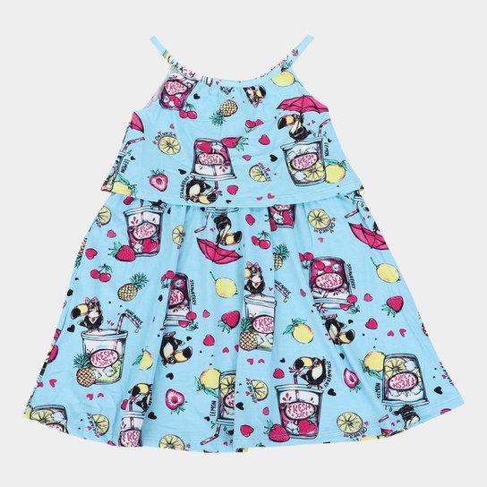 Vestido Infantil Rovitex Fresh Juice - Azul