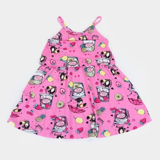Vestido Infantil Rovitex Fresh Juice - Rosa
