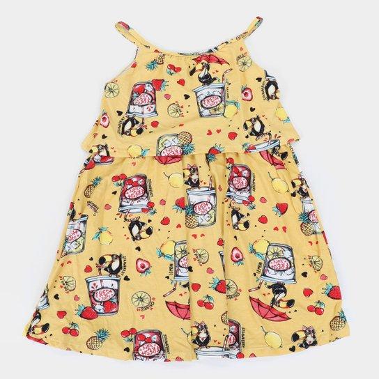 Vestido Infantil Rovitex Fresh Juice - Amarelo