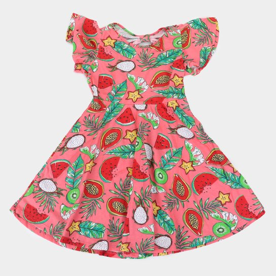 Vestido Infantil Rovitex Frutas - Rosa