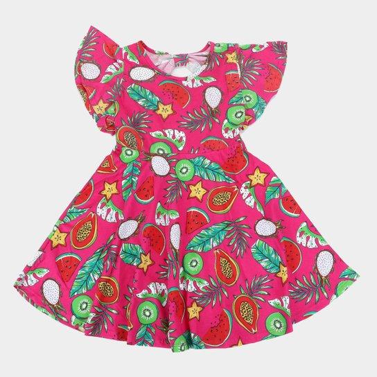 Vestido Infantil Rovitex Frutas - Pink