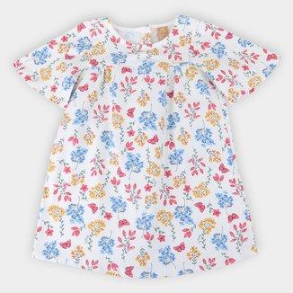 Vestido Infantil Up Baby Cotton Floral