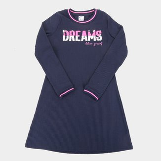 Vestido Juvenil Pulla Bulla Canelado Paetê Reversível Dreams
