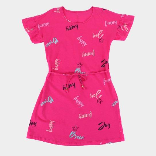 Vestido Juvenil Rovitex Estampado - Pink