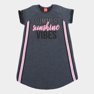 Vestido Moletinho Juvenil Kyly Summer Sunshine Feminino