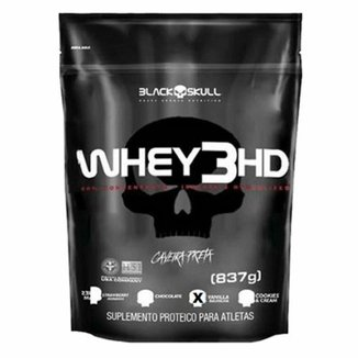 Whey 3 HD Black Skull Refil - 837 g